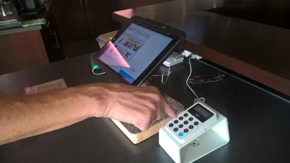 Afrekenen met uw Pinpas of Creditcard in het Sportcafe !