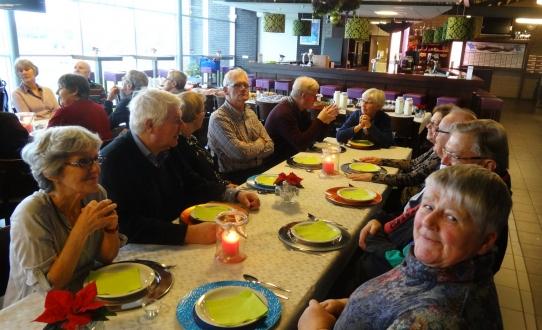 De uitgebreide lunch bij het kersttoernooi 2015